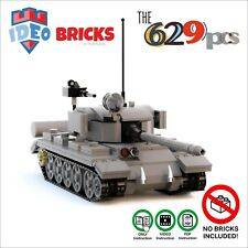 Custom LEGO Moc Tank T54 T55  Soviet ZSRR WW2 ONLY Instruction!! VideoPDF Manual