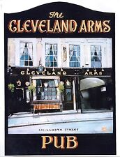 mini pub sign bar inn tavern drink CLEVELAND ARMS ale beer 10 inch 25cm wood