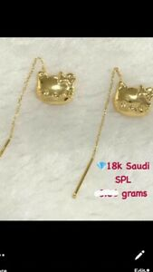 Sale!!! 18k Solid Saudi Gold Tic Tac earrings. ..83grams. Stamped 18k