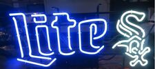 "New Chicago White Sox Miller Lite Beer MLB Neon Sign 24""x20"""