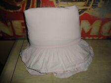 Simply Shabby Chic Pink Ruffled Twin Flat Sheet 100% Crisp Cotton Girls 64 X 91