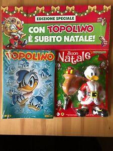 Topolino 3342 Italian Comics with Santa Donald Duck figurine Disney, Mickey Rare