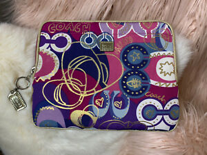 COACH IPAD TABLET SLEEVE PADDED COVER CASE
