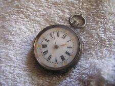 Antique Pocket Watch Silver Case Fancy Dial