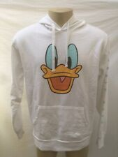 NWT NEFF x DISNEY COLLECTION MEN'S SIZE LARGE WHITE DONALD DUCK FACE HOODIE