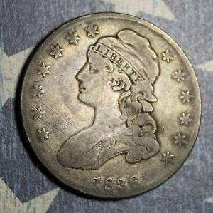 1836 CAPPED BUST SILVER HALF DOLLAR COLLECTOR COIN, FREE SHIPPING