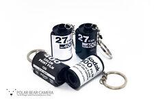 Film Canister Key-chain Key-ring Gift Idea (Black and White) inc Kodak, Fujifilm