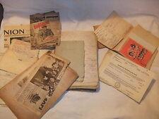Riesiges Konvolut Dokumente Handgeschriebenes Rechnungen Quittungen Briefe 1939