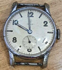 Vintage Tudor Wristwatch Stainless Steel 17 Rubies
