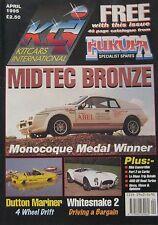 Kitcars International 04/1995 featuring Dutton Mariner, Midtec, Mini, Pilgrim