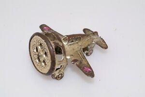 1940s Vtg Japan Metal Airplane Siren Whistle Toy Airplane Wizzer