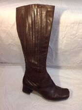 Clarks Brown Knee High Leather Boots Size 4.5D