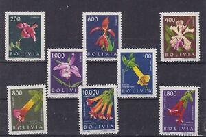 bolivia 1962 Sc 459/62,C237/40 flower,set MNH     s176