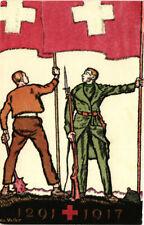 WW1 WWI Propaganda - Pro Croce Rossa - Festa Nazionale Svizzera - PV995