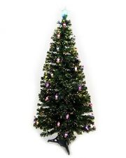 Green Fibre Optic Christmas Tree With 36 Slow Colour Changing LED Lanterns (6FT)