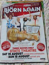 BJORN AGAIN(ABBA) AUGUST 2010 AUSTRALIAN TOUR POSTER MINT