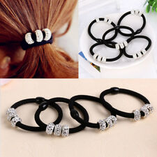 4pcs Ladies Hair Bands Elastic Ponytail Tie Bobbles Vintage Trend Design