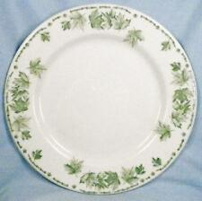 McNichol Restaurant Ware Dinner Plate Green Maple Leaves Vintage Small Chip R81