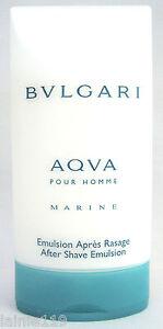 3 X Bulgari AQUA MARINE Men, Bvlgari Aqva Homme, After Shave Emulsion, 2.5 oz ea