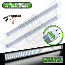 "2x LED T8 Tube Replacement Light 18"" 600 LUMEN Auto 8-30v 12v Neutral White"
