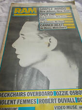 SIMPLE MINDS - RAM -OZ MUSIC MAG - 1984 - SPLIT ENZ - ABC - CANNED HEAT - OZZY