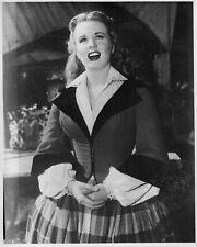 Deanna DURBIN in Walter Plunkett gown still CAN'T HELP SINGING (1944) singing!