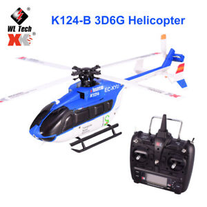 Wltoys XK EC145 K124 6CH 3D 6G System Brushless Motor RC Helicopter