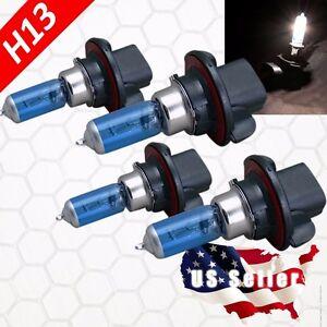 Combo 2 Pair H13 9008 Halogen 100w Xenon Headlight White Light Bulb High Lo Beam