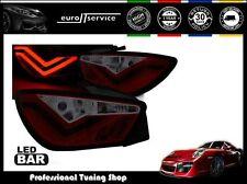 NUOVO COPPIA FANALI FARI POSTERIORI LDSE22 SEAT IBIZA 6J 3D 2008-2012 RED LED