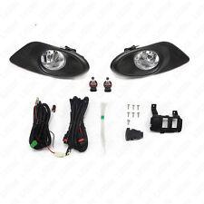 For 08-10 Honda Accord Sedan Clear Lens Fog Light Kit w/Switch w/Bulbs w/Bezel