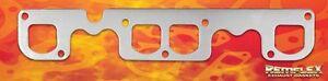 "Exhaust Gasket SBC V8 Brodix ""12"" Raised D Port 1-13/16 x 1-3/4 Remflex RF2015"