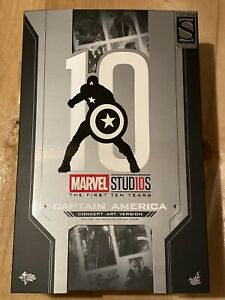 Hot Toys MMS488 Captain America Concept Art Version Empty Box