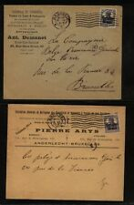Belgium   German  occupation  2  ad covers   1918   MS0213