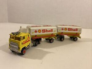 Majorette Shell Tandem Tanker Double Tractor Trailer Truck 1/87 Super Movers