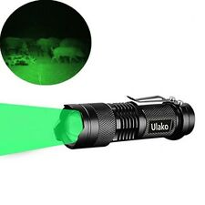 Green Light Flashlight Torch LED Single 1 Mode Zoomable 150 Yard For Hunting