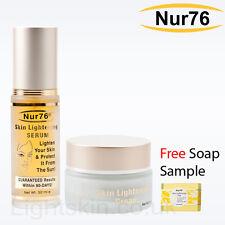 Nur76 Skin Lightening CREAM & SERUM + FREE Nur76 Soap Sample - nur 76 whitening