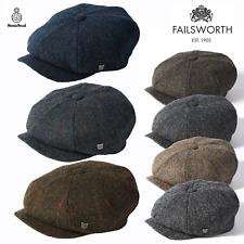 Failsworth Carloway Harris Tweed Newsboy Peaky Blinders Flat Gatsby Cap