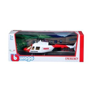 "UK Coastguard Helicopter, 7.5"" long new die-cast aviation model gift"