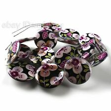 5x 111516 New Wholesale Pretty Flower Oblate Disc Shell Beads 25mm