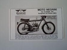 advertising Pubblicità 1971 MOTO NEGRINI 50 SUPER SPRINT EXPORT 5M