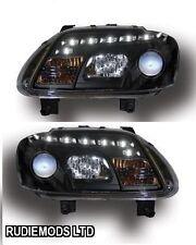 Volkswagen Caddy 2003-2006 Black R8 LED projector Headlights 1 PAIR