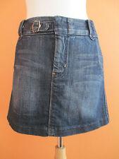 7 For All Mankind Womens Size 28 Pleated Denim Jean Mini Skirt