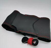 Coprivolante Alfa Romeo MITO in vera pelle nera traforata da cucire a mano