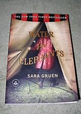 WATER FOR ELEPHANTS by Sara Gruen 2006 - Large Trade Paperback ~ 1st / 1stLarge