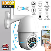 1080P WIFI IP Camera Wireless IN/Outdoor CCTV HD PTZ Smart Home Security IR Cam