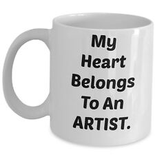 My Heart Belongs To An Artist Coffee Mug Ceramic Cup Gift For Boy Girl Friend US