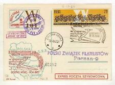 A1154) POLAND GLIDERS 1962 PC Special Postmark
