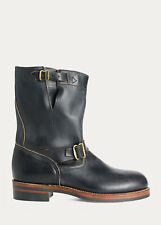 Ralph Lauren RRL Black Leather Murdock 1940's Style Engineer Boots New