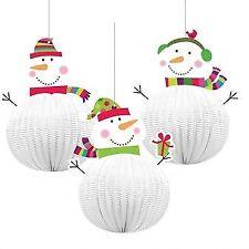 6 Weihnachts fröhlich Schneemann 3d hängende Dekoration