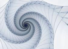 Photo wallpaper Wall Mural white & blue spirals 100x72inch 3D wall decoration